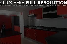 Red Kitchen Backsplash Tiles by Awesome Red Kitchen Design Ideas Baytownkitchen Modern With Black