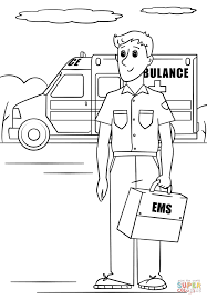 paramedic coloring page free printable coloring pages
