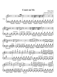 Count On Me Bruno Mars Piano Pdf Bruno Mars Count On Me
