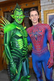 broadway u0027s spider man and the green goblin unironically talk