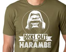 Funny Gorilla Meme - new tits out for harambe shirt gorilla meme funny shirt cotton