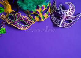 purple mardi gras mardi gras or carnival mask on purple background stock image image