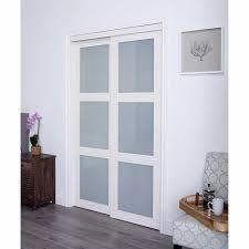 tempered glass closet doors renin style white tempered glass sliding closet door dyi