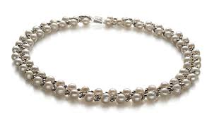 necklace pearl set images 6 7mm a quality freshwater cultured pearl set in weave white for jpg