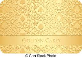 eps vectors of background with golden card symbols
