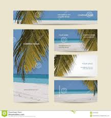 business cards design tropical island stock vector image 52493825