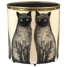 piero fornasetti cat wastebasket 1950s at 1stdibs