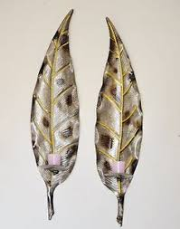 Gold Wall Sconce Candle Holder Pair Of Large Metal Leaf Wall Art Pillar Candle Holder Wall Sconce