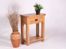 Small Oak Console Table Amazing Narrow Oak Console Table With Oak And Walnut Console