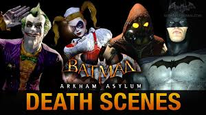 batman arkham city halloween costumes batman return to arkham asylum all game over death scenes youtube