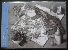 reptiles jigsaw greeting card by mc escher