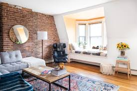 livingroom boston living room in a boston apartment with exposed brick living spaces