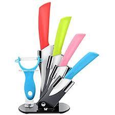 amazon com vremi 10 piece colorful knife set 5 kitchen knives