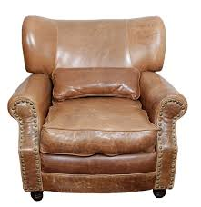 Leather Chair Upholstery Somerset Leather Chair In Briarwood Brown With Brass Toned