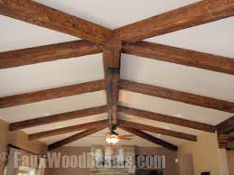 Fake Ceiling Beams by Install Beams On A Stippled Ceiling Faux Wood Workshop
