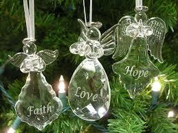 faith ornaments set of 3