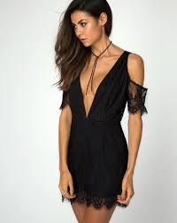 cut out dress cutout black lace mini dress veratta motel rocks