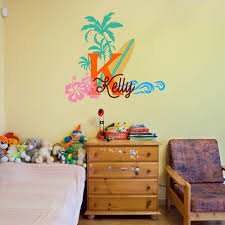 monogram wall decals for nursery aliexpress com buy surfboard with name wall decal baby palm tree