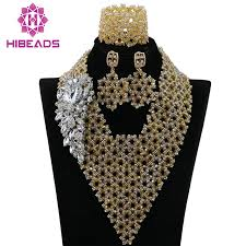 bib necklace aliexpress images Latest crystal beads nigerian wedding african costume jewelry set jpg