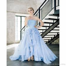 discount gorgeous baby blue garden wedding dresses 2017 with