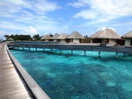 stay in an overwater bungalow in bora bora or the maldives from