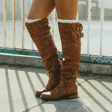 s boots knee high brown
