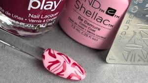 stamping nail art with creative play shellac u0026 yours youtube