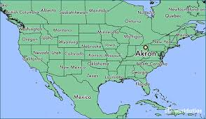 of akron map where is akron oh where is akron oh located in the