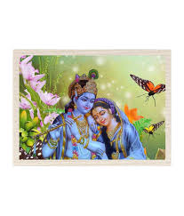 Canvas Without Frame Mesleep Radha Krishna Canvas Painting Without Frame Combo Buy