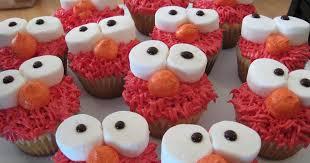 elmo cupcakes my food affair elmo cupcakes