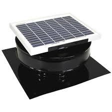 solar attic vent fan active ventilation 365 cfm black powder coated 5 watt solar powered