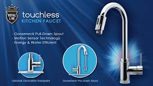touchless faucets kitchen kitchen touchless faucet royal line