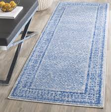 Blue Runner Rug Amazon Com Safavieh Adirondack Collection Adr110d Silver And Blue