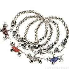 bracelet luxury crystal images Luxury crystal color dachshund charm bracelet my inseparable jpg