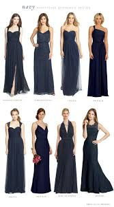mismatched bridesmaid dresses in navy blue navy bridesmaids