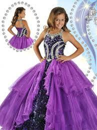 wholesale 2015 new halter purple little girls pageant dresses