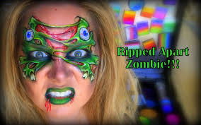 Youtube Halloween Makeup by Ripped Zombie Face Painting And Makeup Youtube