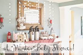 while it rains a winter themed baby shower