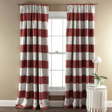White Darkening Curtains Stripe Blackout Window Curtain Set Lush Decor Www Lushdecor