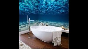 beautiful wall murals design for your dream bathroom youtube