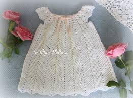 lacy crochet white ripple baby dress size 12 18 months crochet