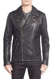 leather biker jacket lamarque moto lambskin leather biker jacket nordstrom rack