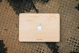 real teak wood macbook cover touch of wood