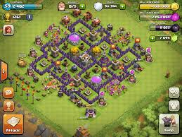 layout coc town hall level 7 masterball a town hall level 7 and 8 dark elixir farming hybrid
