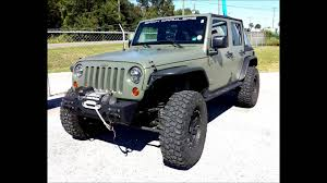 jeep matte green photo slideshow camo od green liquid wrapped jeep rubicon youtube