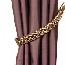 Tie Backs Curtains Curtain Chrome Curtain Holdbacks Braided Curtain Tie Backs