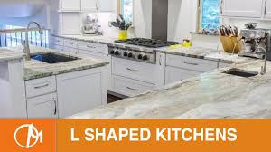 L Shaped Kitchen Island Designs by L Shaped Kitchens With Islands Design Montage Youtube