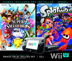 amazon wii u games black friday amazon com wii u super smash bros and splatoon bundle special