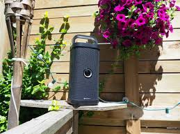 big blue party brookstone s all weather big blue party wi fi speaker sounds great