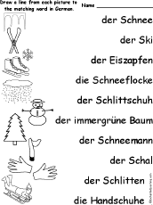 german language activities at enchantedlearning com